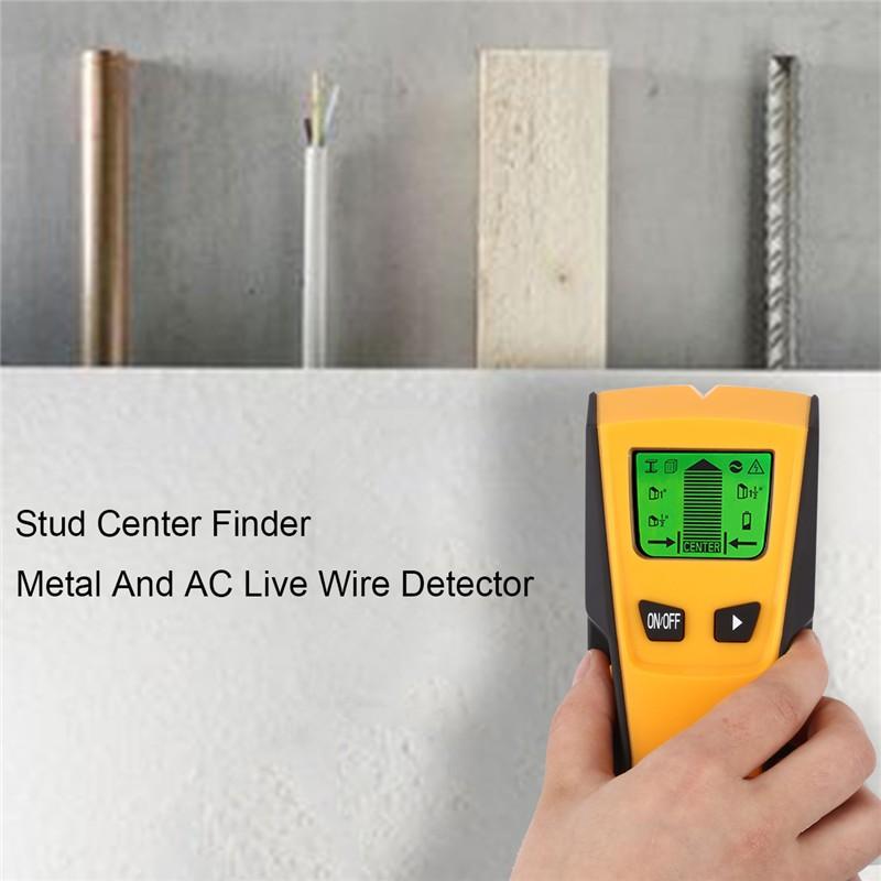 3 en 1 tubo de metal Stud Paredes Madera AC Live Wire Cable Buscador Detector de electricidad